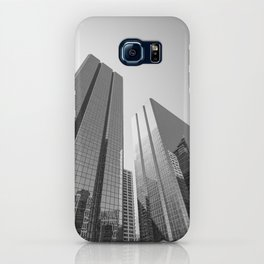 Calgary downtown Skyline in monochrome iPhone Case