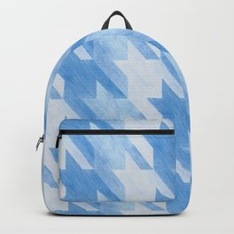 Blue Monochrome Houndstooths Backpack