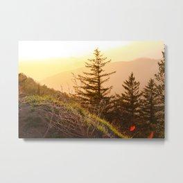 San Bernardino Mountain Sunset II Metal Print