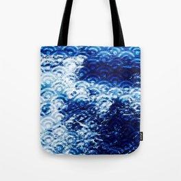Waves of change (Japanese Seigaiha Wave pattern) Tote Bag