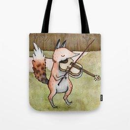 Violin Fox Tote Bag