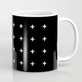 White Plus on Black /// www.pencilmeinstationery.com Coffee Mug