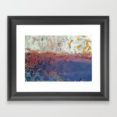 entropic floral dreams Framed Art Print