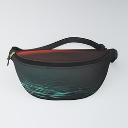 Red sky and blue sea at twilight Fanny Pack