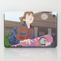 mcfly iPad Cases featuring Marty McFly by Lesley Vamos