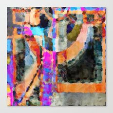 Artful Spirit Mosaic Colorful Geometric Abstract Canvas Print