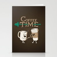 ed sheeran Stationery Cards featuring Coffee Time! by powerpig
