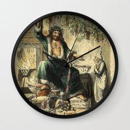 Scrooges third visitor-John Leech Wall Clock