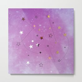 Paper Edition Color Stars Balloon Leaves Hearts Space Birds Lines Metal Print