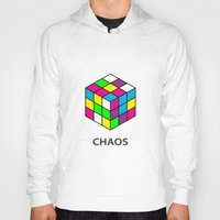 chaos Hoodies featuring Chaos by Dizzy Moments