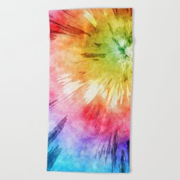 Tie Dye Watercolor Beach Towel