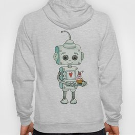 The feeling when your cute little robot brings you a cupcake in the morning :) Hoody