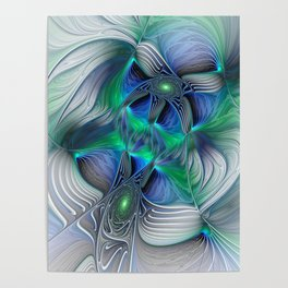 Fantasy Place, Abstract Fractal Art Poster