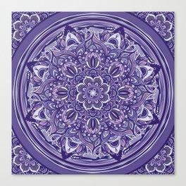 Great Purple Mandala Canvas Print