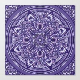 Great Purple Mandala Canvas Print