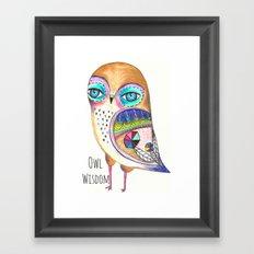 Owl Wisdom Framed Art Print