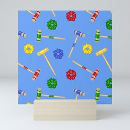 Heathers Blue Repeat Pattern Mini Art Print