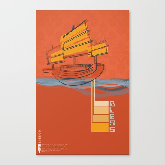Poster Project | Bless Ship Orange Canvas Print