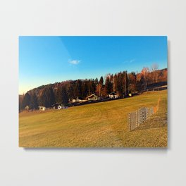 Village scenery with fences | landscape photography Metal Print