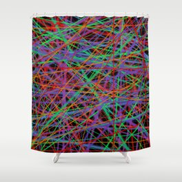 the web in color Shower Curtain