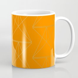 Orange Geometric Triangles Coffee Mug