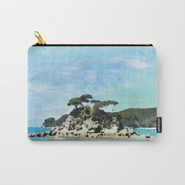 Beach of Abel Tasman Park in Watercolor Carry-All Pouch