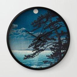 Spring Moon At Ninomiya Beach By Kawase Hasui Wall Clock