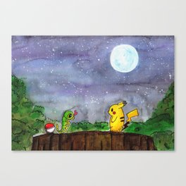 Nice to meet you, Caterpie Canvas Print