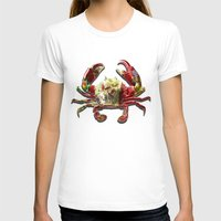 crab T-shirts featuring Lucky Crab by JonezuArt
