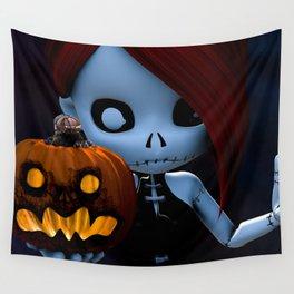 Rag Doll Halloween Wall Tapestry