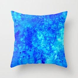 Winter Crystals Throw Pillow