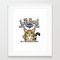 lil bub Framed Art Prints featuring Lil Bub - Special Edition by Paper Tiki