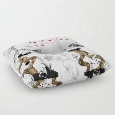 One step aside reality Floor Pillow