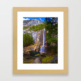 Vernal Falls, Yosemite National Park, Fall 2013 Framed Art Print