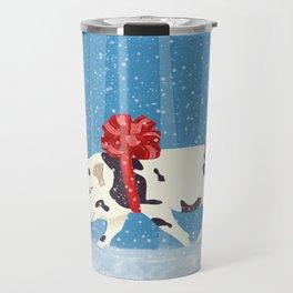 Cute Little Pig Holiday Design Travel Mug