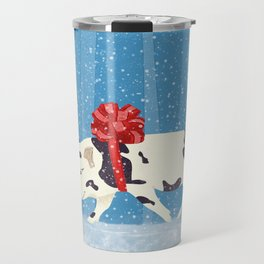 Cute Little Pig Holiday Design Travel Mug