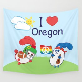 Ernest and Coraline | I love Oregon Wall Tapestry