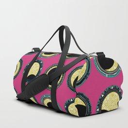 solar eclipse mandala pink Duffle Bag