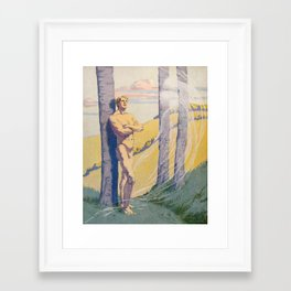 """""""Living beings, identities now doubtless near us in the air that we know not of"""" Framed Art Print"""