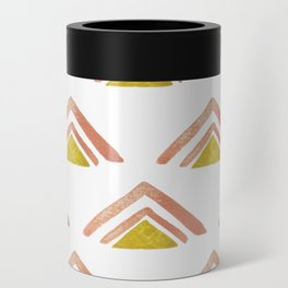Pink and Yellow Boho Triangles Can Cooler