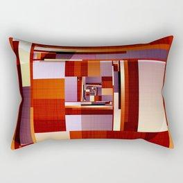 Abstract Red Spiral Rectangular Pillow
