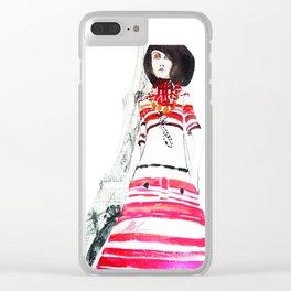 Paris 70's Clear iPhone Case