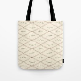 Geometrical floral pink green watercolor leaves Tote Bag