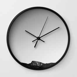 Mountains. Wall Clock