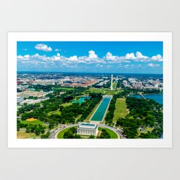 DC from Above Art Print