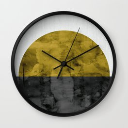 Landscape watercolor collage II Wall Clock