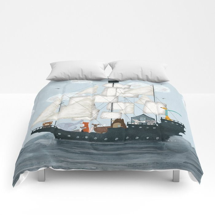 a nautical adventure Comforters