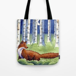 Fox and the Moon Tote Bag