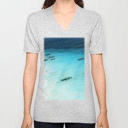 White Beach Boracay Unisex V-Neck