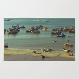 Fishing village Rug